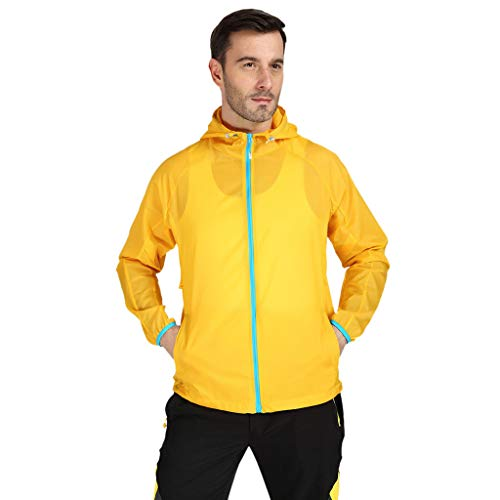 GJKK wasserdichte Outdoorjacke Damen Herren Winddichte Jacke Outdoor Fahrrad Sport Quick Dry Windbreaker Coat Top Sportjacke Dünne Outdoor Funktionsjacke