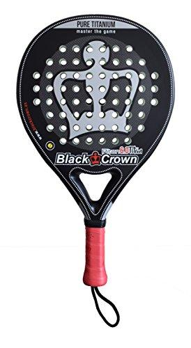 Black Crown Piton 6.0 Titan Raquette de Padel pour Adulte Unisexe Noir Argent L