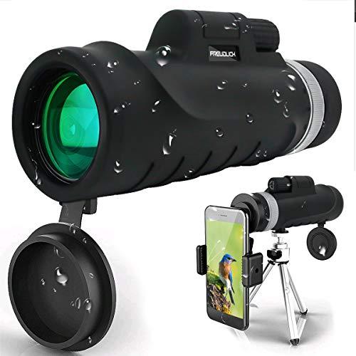 Monokular Teleskop, 12X42 Hochleistungs und HD Monokular mit universellem Smartphone-Halter BAK4-Prisma für Vogelbeobachtung, Jagd, Überwachung, Wandern