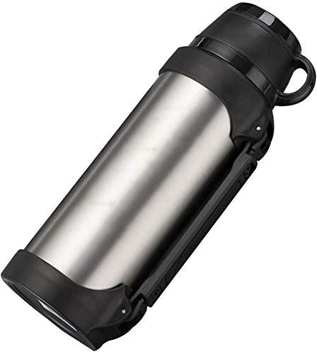 Bouilloire électrique de voiture, allume-cigare de voiture de voyage en acier inoxydable portable Bouilloire électrique à eau chaude pour thé, café, argent, 1200 ml