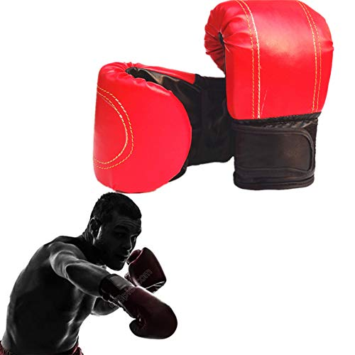 Xinllm Guantes Kick Boxing Guantes Boxeo Hombre Guantes de Kickboxing Entrenamiento Guantes de Boxeo Guantes de Boxeo para Kickboxing Red,10oz