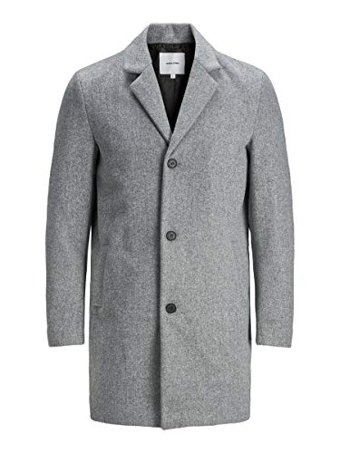 Jack & Jones JJLIAM Coat PS Chaqueta, Color gris, XXXXL para Hombre