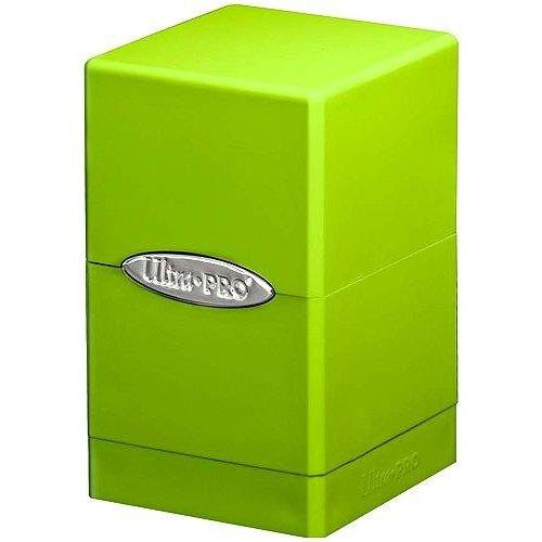 Ultra Pro Deckbox Satinado Tower C6–Juego de Cartas (Verde Lima)