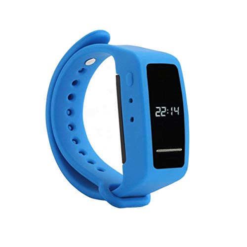 Bracelet Digital Voice Recorders,eoqo Wristband 8GB Voice Activated,Noise Cancelling Audio Recorder for Lectures,Meetings,Class,Interviews & Playback by Built-in Speaker(Blue)