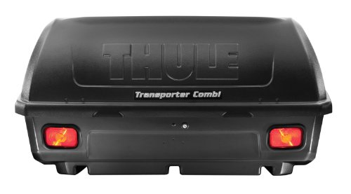 Thule Transporter Combi Hitch-Mount Cargo Box, Black , 50.5 x 23.5 x 24.5 in