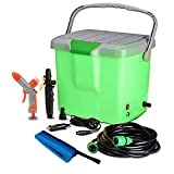 Qualimate Portable 12V DC Electric High Pressure Car Washer Washer Machine Spray Gun