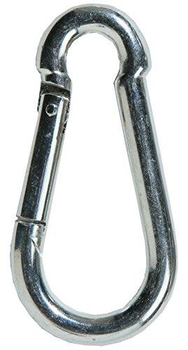 SBS - Mosquetón de acero galvanizado (10 unidades, 8x 80mm, DIN 5299)