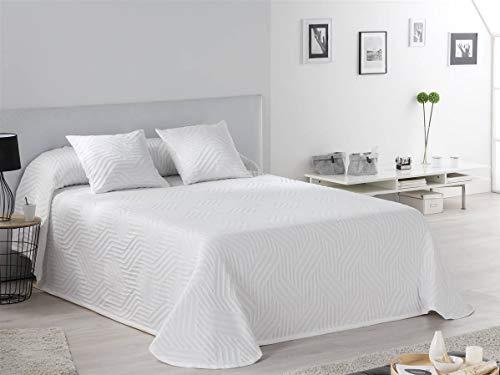 Tejidos JVR - Colcha piqué Hawai - Cama 180 cm - Color Blanco