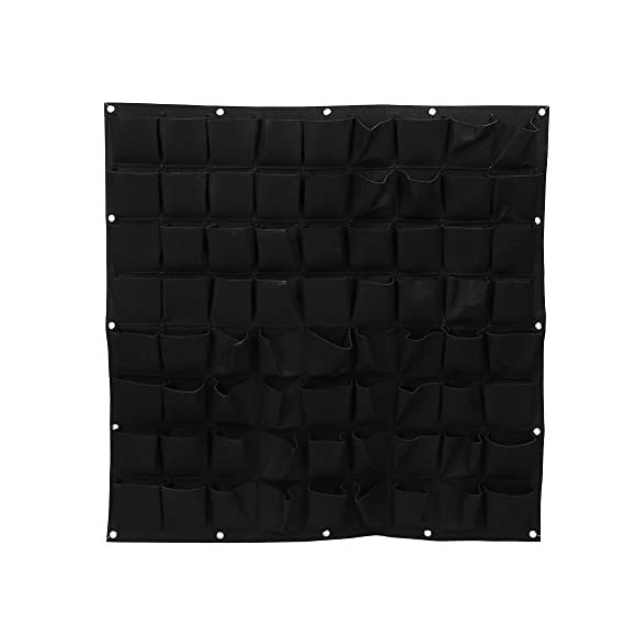 72 Pocket Vertical Wall Garden Planter,Wall Hanging Planting Bags for Garden Indoor Outdoor (16 Pockets) 3 ❤The felt material, meet environmental standards, non-toxic biodegradable, anti ultraviolet, anti-corrosion, sunscreen, heat. ❤Hanging on the walls, save space, planting strawberries, vegetables, foliage plants. ❤Reusable, portable, economical and practical.