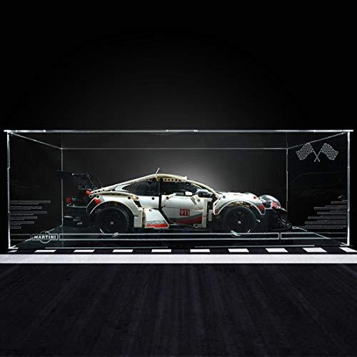 Seciie Vitrine Display Case Acryl Schaukasten für Lego 42096 Porsche 911RSR - Nicht Enthalten Lego Modell