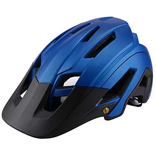 TOYHEART Casco De Bicicleta 56-63 CM, Mujeres Hombres Bicicleta Al Aire Libre Bicicleta De Carretera De Montaña Ciclismo Seguridad Casco Ligero Azul