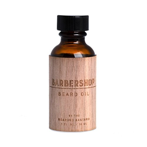 Barbershop Beard Oil | Beard Care, Beard Grooming, Beard Conditioner, Men's Grooming, Hydrating, Essential Oils, Hair Oil, Moisturizer | Jojoba Oil, Argan Oil, 1 Ounce, All Natural