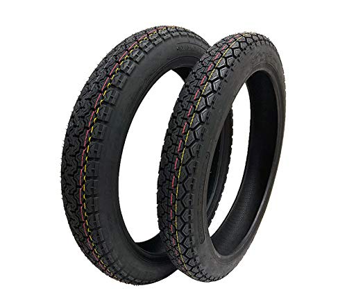 TIRE SET COMBO: Front Tire 2.75-18 and Rear Tire 3.00-18 for Motorcycles 125cc