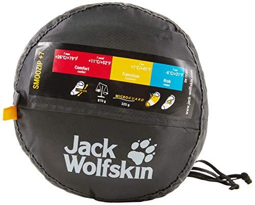 Jack Wolfskin Schlafsack Smoozip +7, dark steel, 31 x 17 x 17 cm, Liter