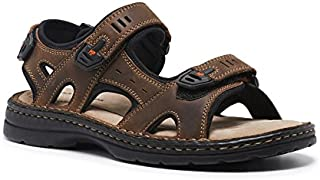 Hush Puppies Simmer Mens Leather with Memory Foam Casual Sandal