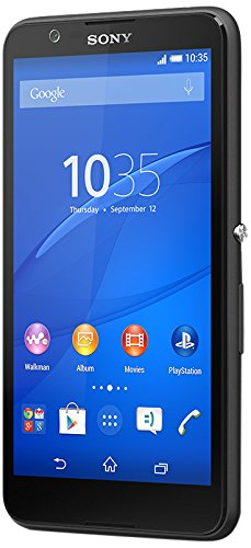 Sony Xperia E4 Smartphone (12,7 cm (5 Zoll) IPS-Display, 1,3 GHz-Quad-Core-Prozessor, 5 Megapixel-Kamera, Android 4.4) Schwarz