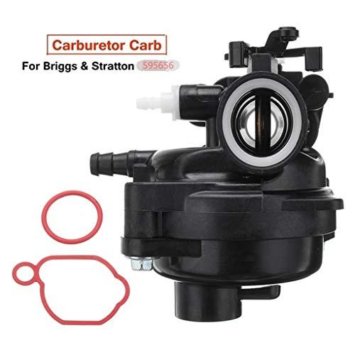 QIUXIANG Carburador Sellado del Sistema del Anillo Segadora Carbohidratos En Forma For El Reemplazo De Briggs Y Stratton Serie 450E De 125 CC 591979 595656