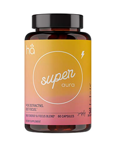 Super Aura - Boost Focus & Brain Enhancer Nootropic Pills for Women and Men - Increase Focus, Improve Memory, Boost Concentration - DMAE, Bacopa, Green Tea, Tyrosine, B6, Huperzine A (60 ct)