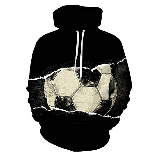 yyqx closed truck Zerrissene Linie Zeichnung Fußball Hoodie Unisex Realistische 3D...