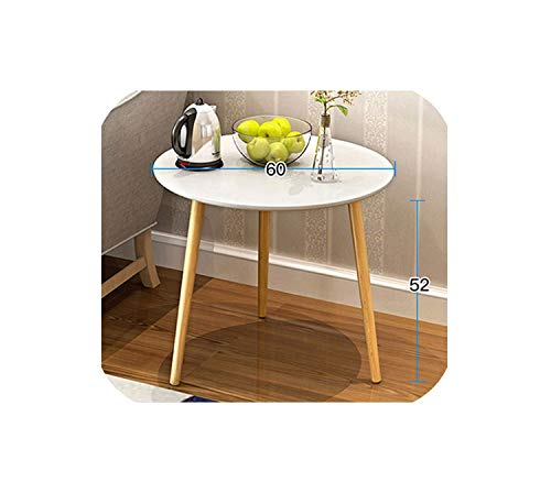 Vicky Loft Style Side Table Furniture Modern Wood Table Living Room Coffee Table Solid Wood Legs Sofa Side Table,Light Gray