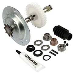Includes installation tutorial Kit Includes: Gear and sprocket, worm gear, grease, motor shaft bearings, sprocket bearings Compatible with chain drive chamberlain sears craftsman operators 1984-current Compatible with chamberlain, sears, craftsman an...