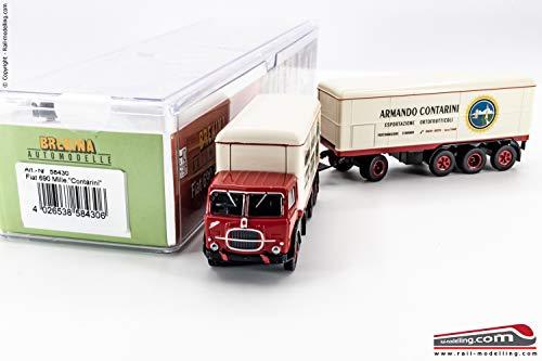 BREKINA 58430 - H0 1:87 - Camion con rimorchio isotermico Fiat 690 Millepiedi baffo'Contarini'