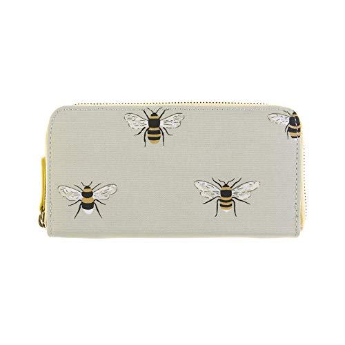 Sophie Allport Bienen Wachstuch mit Reißverschluss Geldbörse