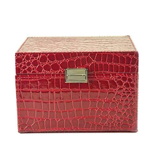 Preisvergleich Produktbild Jewellery Box Organizer Exquisite mehrschichtige Pu-leder Haushalt Desktop Schmuck Sammlung Box Für Mädchen Frauen