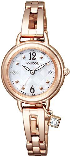 [シチズン] 腕時計 ウィッカ ソーラーテック電波時計 ブレスライン ハッピーダイアリー KL0-961-11 レディース ピンクゴールド