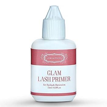 MYBEAUTYEYES Eyelash Extension Glam Lash Primer 15 ml/Pre-Treatment for Semi Permanent Eyelash/Easily Removes Proteins and Oils/Oil Free/Longer Extension Retention  Transparent