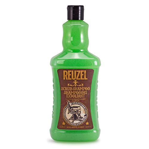 Reuzel Scrub Shampoo For Men - Deep Cleansing - Scalp Exfoliant - Degreaser - Removes Heavy Grease, Oil & Chlorine Buildup, 33.81 oz / 1 l