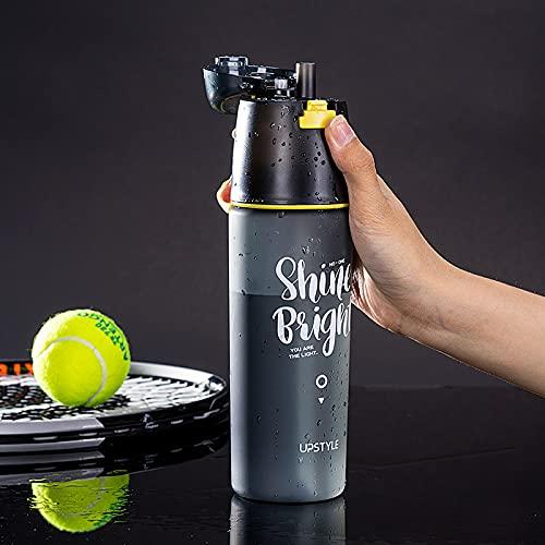 Botella De Agua Niños Botella Agua Niños Botella Para Agua Vaso Rociador Portátil Negro