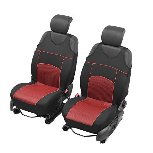 Universelle Sitzbezüge Tuning EXTRA kompatibel mit Opel Adam Sitzauflage Überzüge Schonbezüge Vordersitze ROT