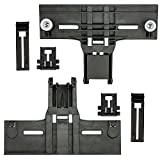 UPGRADED 6 PCS Dishwasher Parts Upper Rack W10350376, 2pc W10195840 Dishwasher Positioner & 2 pc W10195839 Dishwasher Rack Adjuster, W/ 0.9 In Diameter with Steel Screws