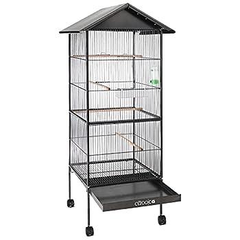 Deuba - Volière - Cage à Oiseaux - métal - 157 cm - Canaries, Perroquet, perruches