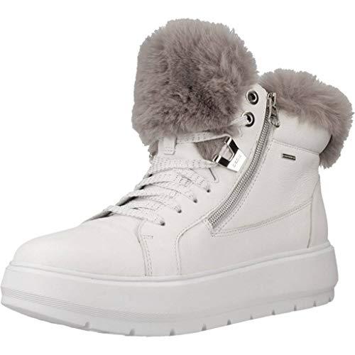 Geox D Kaula B ABX D, Sneaker a Collo Alto Donna, Bianco (White/Dk Grey C0672), 40 EU