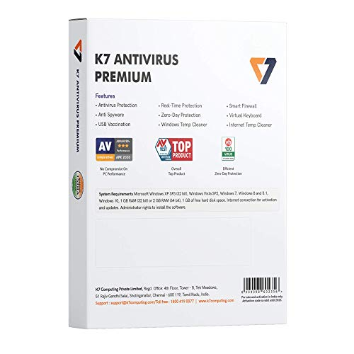 K7 Antivirus Premium- 1 User, 1 Year (Email Delivery in 2 hours - No CD) 2