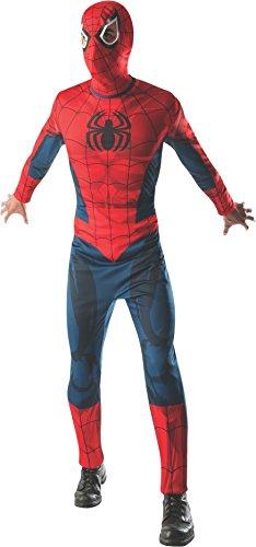 Rubie's Spiderman Erwachsene Fancy Kleid Marvel The Avengers Superhero Herren Kostüm Outfit X-Large