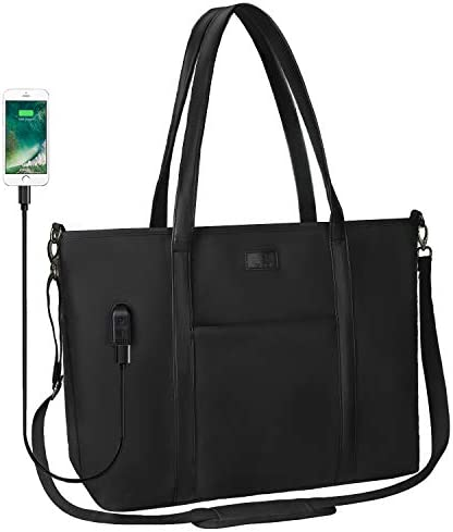 Laptop Tote Bag 17 1 Inch Laptop Large Work Bag Purse USB Teacher Bag for Women Lblack product image