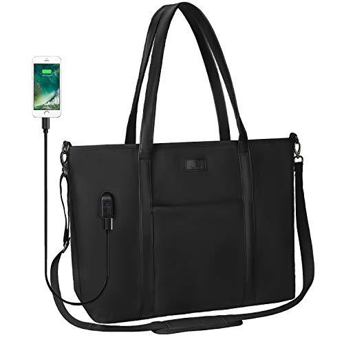 Laptop-Tragetasche, 43,4 cm (17 Zoll) Laptop-Handtasche, Arbeitstasche für Damen, mehrere Fächer, groß