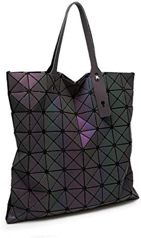 3e61174dd2ee4 Luminous Frauen Bao Bao Bao Bao Tasche High-End Geometrische Handtaschen  Plaid Schulter Diamantgitter Baobao Damen Messenger Bags 40X40 Bilayer  B07FB9D375 ...