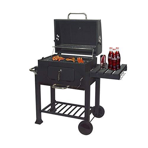 Dauerhafter Outdoor-Grill- und Burger-Gas/Holzkohle-Grillkombination wird mit einem verchromten Erwärmungsstangen geliefert Jialele