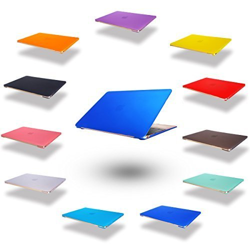 dizauL  elegante e leggera protezione ultra sottile Custodia cover coperchio protettivo duro caso notebook borsa guscio duro Custodia per 2015 Apple NEW MACBOOK 12 'blu scuro