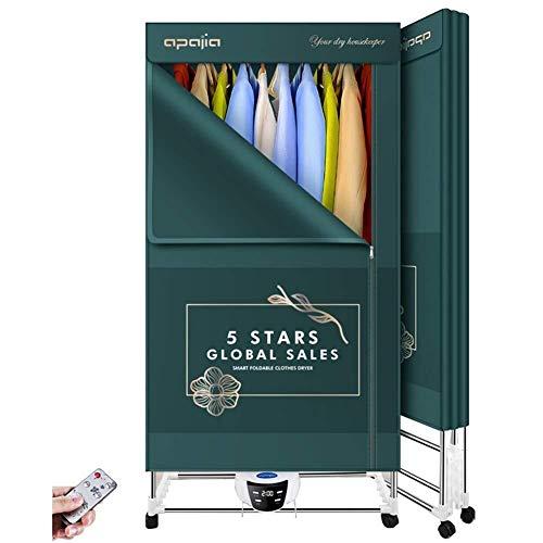 Secadoras de ropa portátil 2000w 2-Nivel 3 Speed Shift eléctrico de lavandería secado Panel de Modo de 66 libras de ahorro de energía de alta eficiencia Secadora Armario con la toalla tubo sincroniz