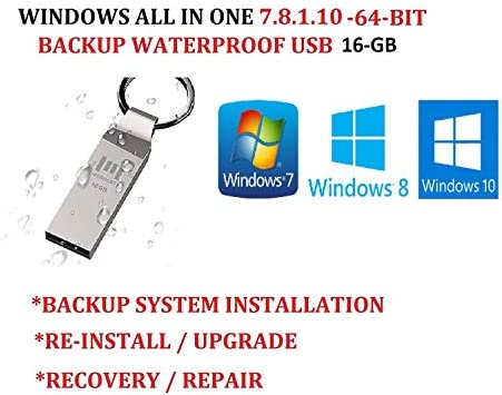 WINDOWS 7 8 1 10 ALL IN ONE USB SUITE ULTIMATE PRO 64 BIT UPDATED JAN 2020 FACTORY FRESH RECOVERY product image