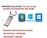 window 7 ultimate 64 bit - WINDOWS 7/8.1/10 ALL IN ONE USB SUITE ULTIMATE PRO 64-BIT UPDATED JAN 2020 FACTORY FRESH RECOVERY FIX REINSTALL RESTORE REPAIR REPLACE INSTALL COMPATIBLE WITH MICROSOFT