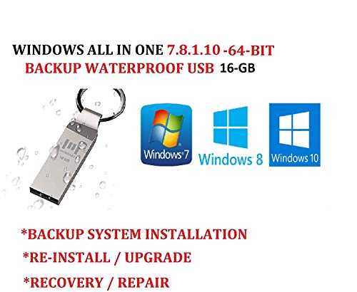 WINDOWS 7/8.1/10 ALL IN ONE USB SUITE ULTIMATE PRO 64-BIT UPDATED JAN 2020 FACTORY FRESH RECOVERY FIX REINSTALL RESTORE REPAIR REPLACE INSTALL COMPATIBLE WITH MICROSOFT