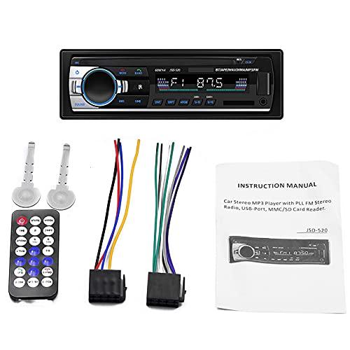 ZWMBAOR Automóvil Reproductor Bluetooth Mp3,Compatible con Conexión Dos Teléfonos Móviles Bluetooth Mismo Tiempo,con Función Reproducción Memoria Apagado,para Modificación Interior Automóvil