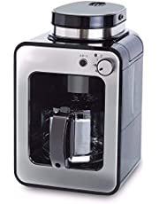 全自動コーヒーメーカー 新ブレード搭載 [アイスコーヒー対応/静音/コンパクト/ミル2段階/豆・粉両対応/蒸らし/ガラスサーバー] SC-A211 ステンレスシルバー