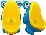 Frosch Kinder Kinder Töpfchen Toilette Training Kinder Ziel Ziel Windmühle Wand Urinal für Jungen Pee Stand Trainer Badezimmer (Blauer Frosch)